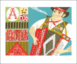 A is for Accordian by Emily Sutton