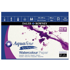Aquafine A4 Watercolour Pad 300gsm Cold Pressed (NOT)