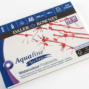 Aquafine Watercolour Postcard Pad 300gsm Cold Pressed (NOT)