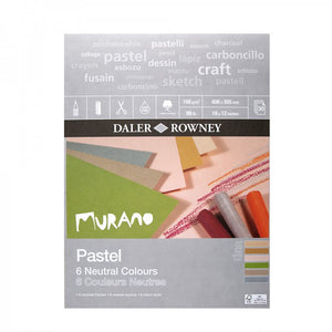 "Daler Rowney Murano Pastel Paper Pad Neutral Colours 160gsm, 30 sheets, 12"" x 9"""