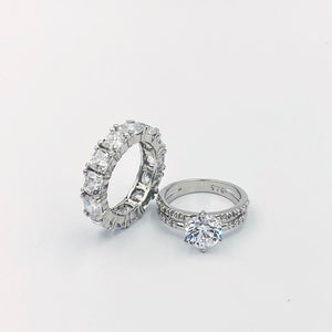 Stacked Collection Of Swarovski Crystal Rings - You'll Definitely Love!