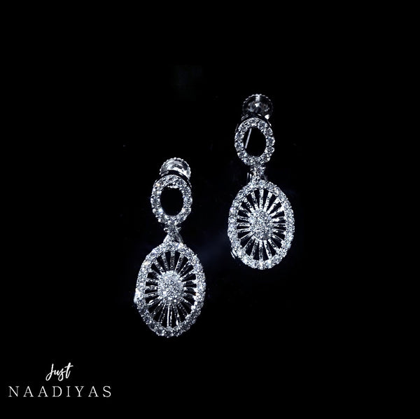 Amaliya Silver Drop Fashion Earrings
