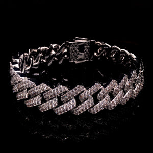 16MM WHITE GOLD ICED OUT BRACELET WWW.JustNaadiyas.com