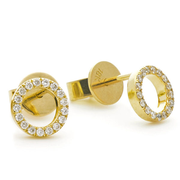 Diamond Circle Of Life Stud Earrings