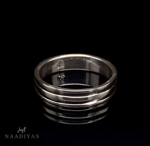 STERLING SILVER 5MM BLACK DOUBLE BAND RING www.JustNaadiyas.com