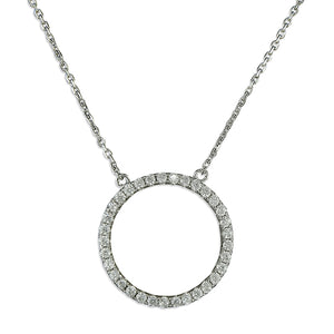 Circle Of Life Silver Necklace