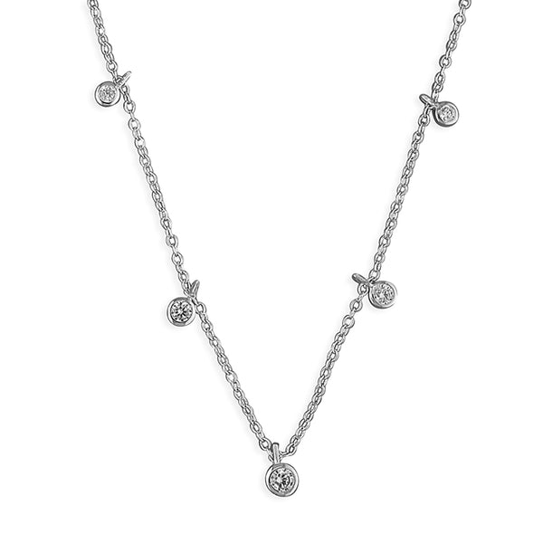Mini Droplet Silver Necklace