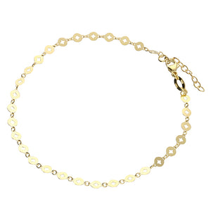 Gold / Silver Cut Out Disc Style Anklet