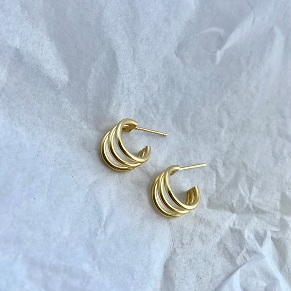 VIXEN GOLD EARRINGS WWW.JUSTNAADIYAS.COM