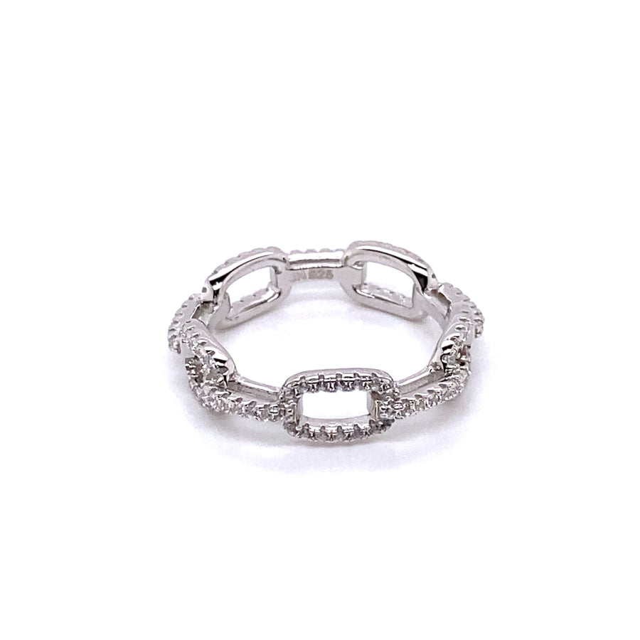 Link Silver Eternity Band