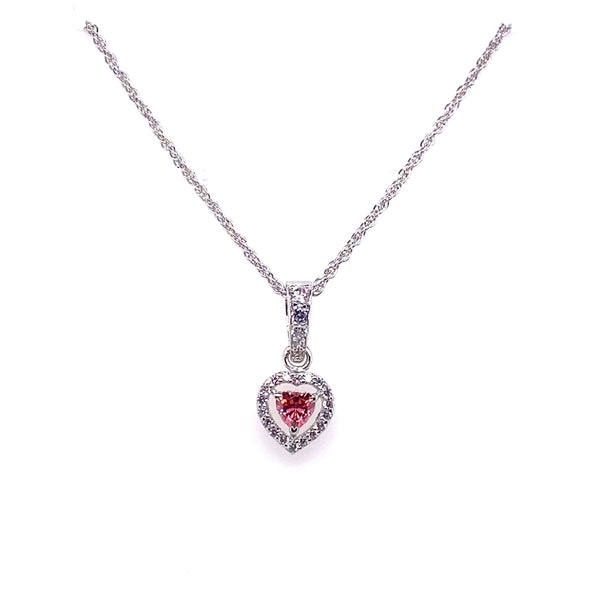 Pink Swarovski Heart Shaped Necklace