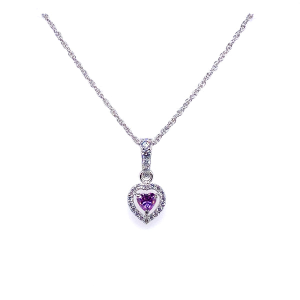 Violet Swarovski Heart Shaped Necklace