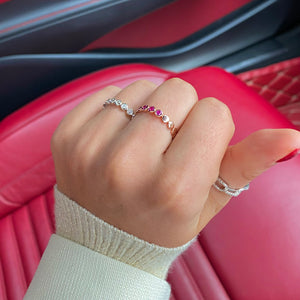 Rosegold Pink Gem Eternity Ring
