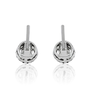 Diamond Round Brilliant Cut Halo Earrings