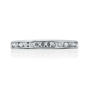 Round Cut Brilliant Channel Set Full Eternity Ring