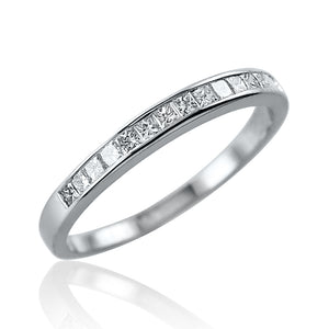 Princess Cut Channel Set Half Eternity Ring