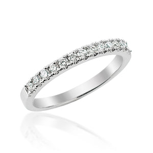 Round Brilliant Cut Micro Set Half Eternity Ring