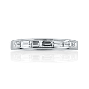 Baguette End To End Channel Set Half Eternity Ring