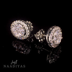 YARA SWAROVSKI EARRINGS WWW.JUSTNAADIYAS.COM