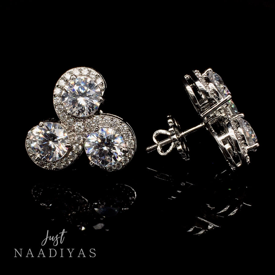 ZARIA SWAROVSKI EARRINGS www.JUSTNAADIYAS.COM