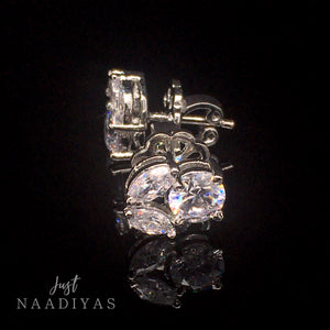 ALIA SWAROVSKI EARRINGS WWW.JUSTNAADIYAS.COM