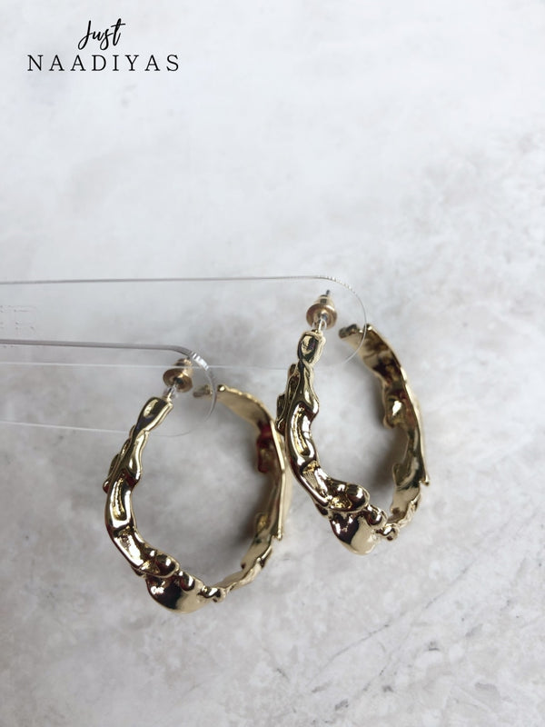 Fashion Earrings Funky Gold Hoops