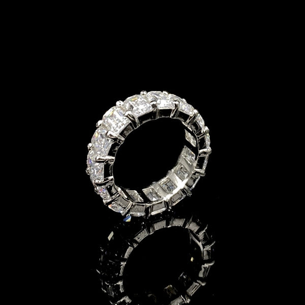 Ilhana Swarovski Baguette Cut Eternity Band Ring