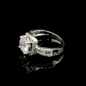 Vena Swarovski Double Band Ring