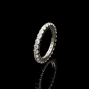 Haabi Swarovski Silver Eternity Band Ring