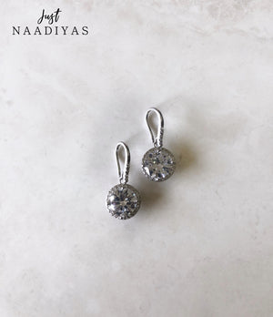 Fashion Earrings Round Silver Drop justnaadiya.com