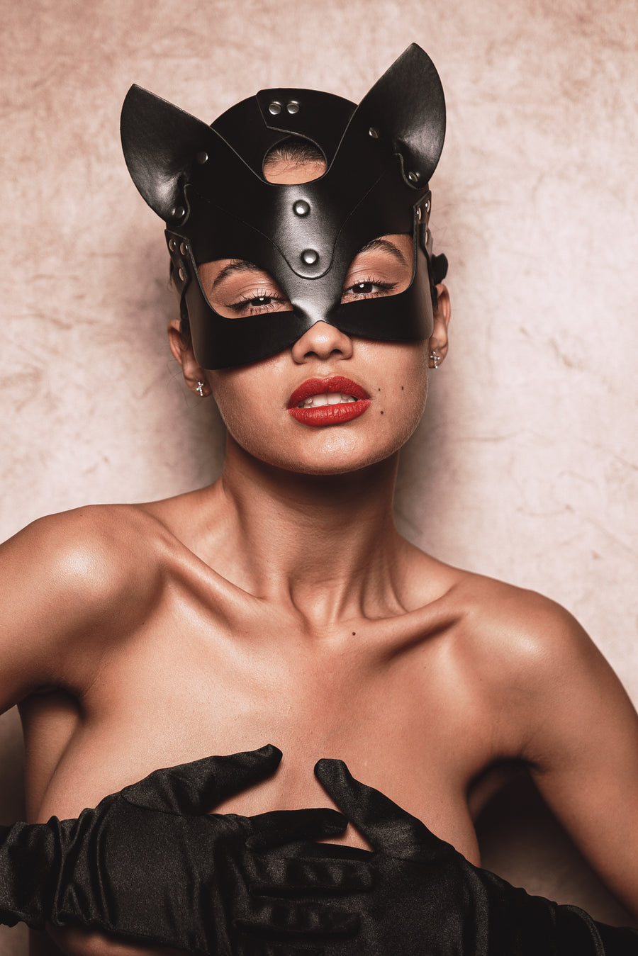 Cat Woman Leather Mask