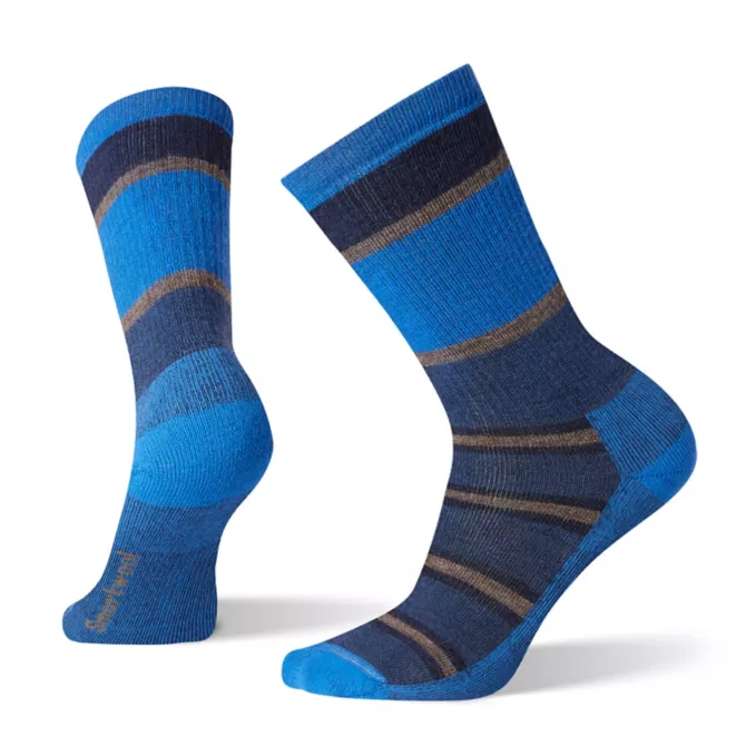 Men's HIKE Medium Cushion Striped Crew Socks