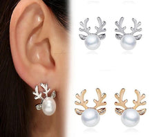 Load image into Gallery viewer, Christmas Pearl Deer Earring-Specialty Gifts