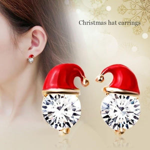 Christmas Hat Earrings-Specialty Gifts