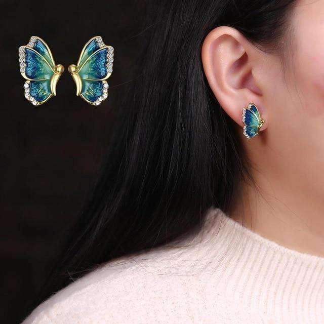 Butterfly Stud Earrings-Specialty Gifts