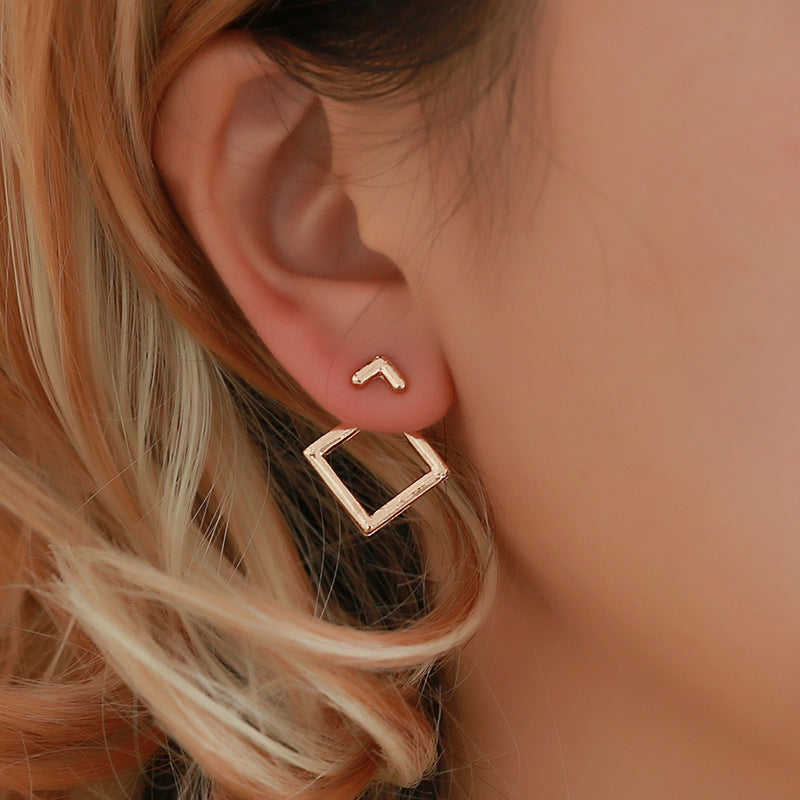 Trendy Cute Geometric Square Earrings-Specialty Gifts