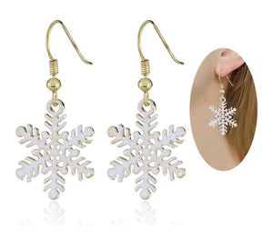 Snowflake Earrings-Specialty Gifts