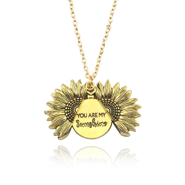 You Are My Sunshine Sunflower Necklace-Specialty Gifts