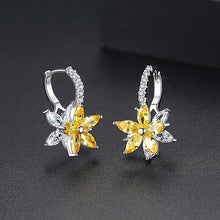 Load image into Gallery viewer, Romantic Lovely Clear Stone Flower Shape Convenient Simple Stud Earrings-Specialty Gifts