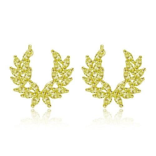 Fashion Feather Stud Earrings-Specialty Gifts