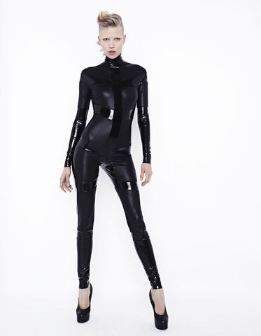 Skeleton Catsuit Black on Black