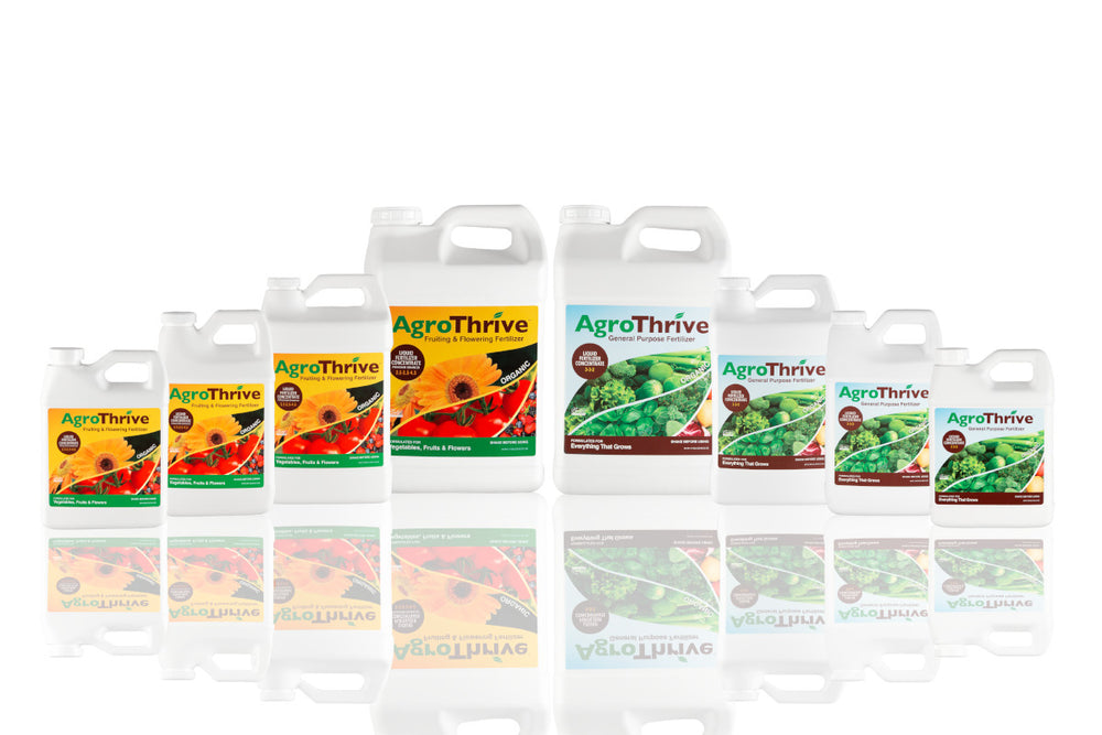 AgroThrive Organic Fertilizer complete product line