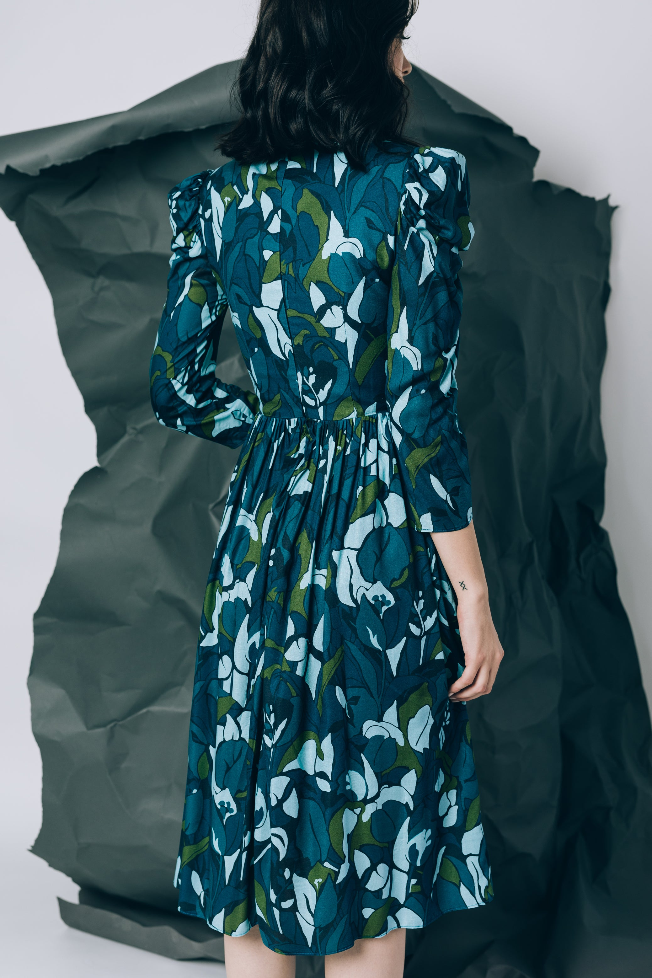 Mid-length printed dress