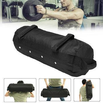 Image of 40/50/60 Ibs Adjustable Weightlifting Sandbag Fitness Muscle Training Weight Bag Exercise Tools