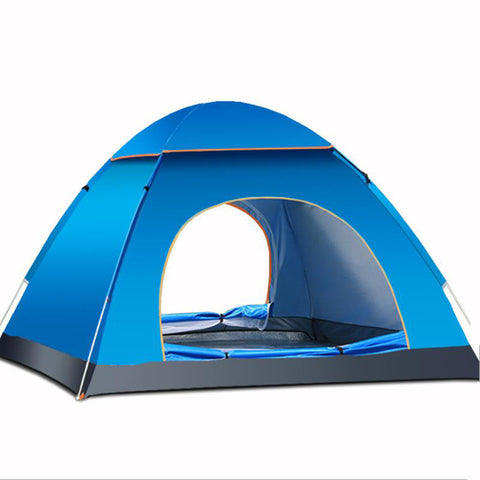 Outdoor 3-4 Persons Camping Tent Automatic Quick Open Waterproof UV Sunshade Canopy - BlueForce Sports