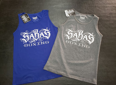 SABAS Mens Tank Top Tees - Sabas boxing gloves