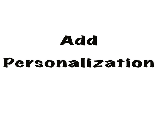 Add Personalization - Sabas fight gear LLC