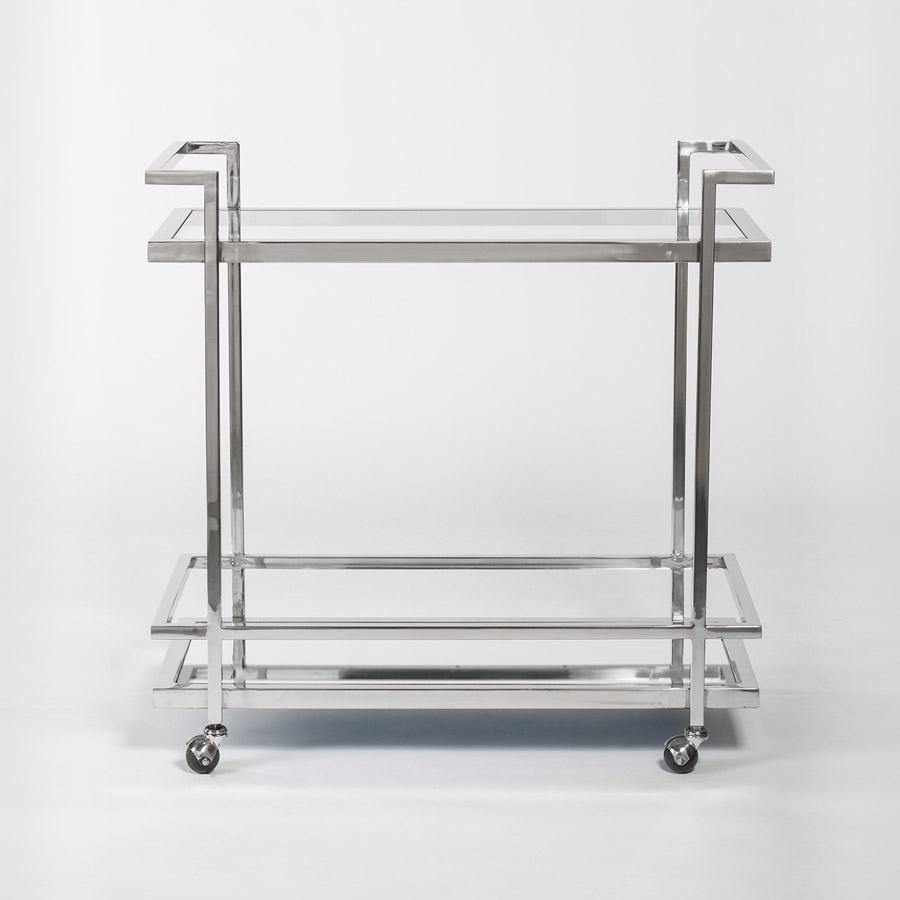 Copy of Brentwood Bar Cart in Polished Chrome - Monroe & Kent Home (4566513582163)