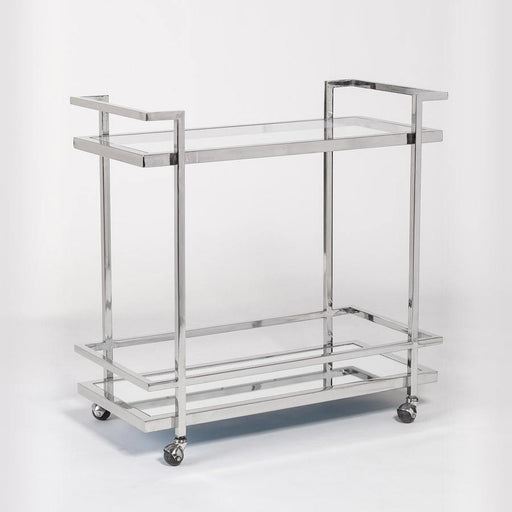 Copy of Brentwood Bar Cart in Polished Chrome - Monroe & Kent Home