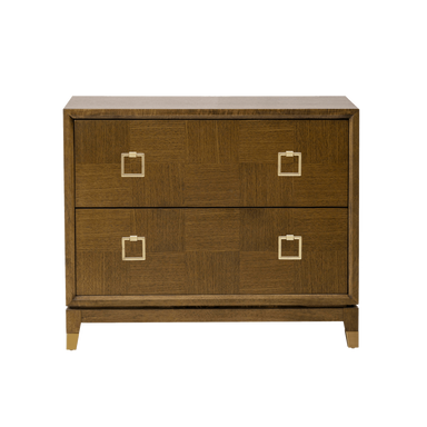 Hayes Two Drawer Night Stand - Monroe & Kent Home (4733038166099)